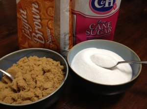 Brown & White Sugar