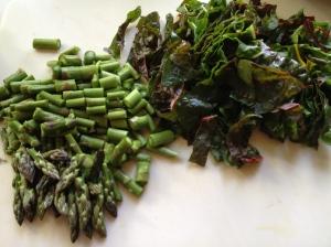 Asparagus & chard greens