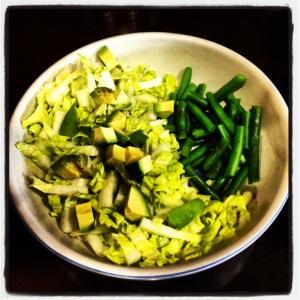 Napa cabbage & avocado salad